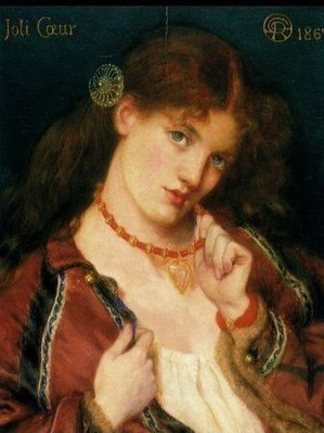 DANTE GABRIEL ROSSETTI - Joli Coeur (1867)