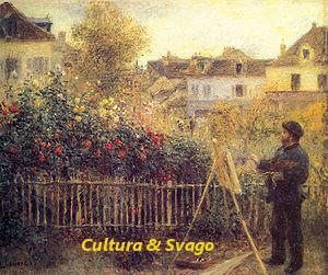 RENOIR - Monet nel giardino di Butte Montmartre