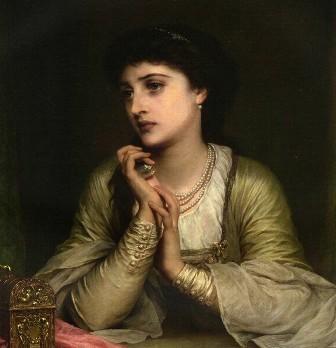 THOMAS FRANCIS DICKSEE - Pensieri lontani (1886)