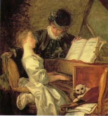 HONORE' FRAGONARD - La lezione di musica