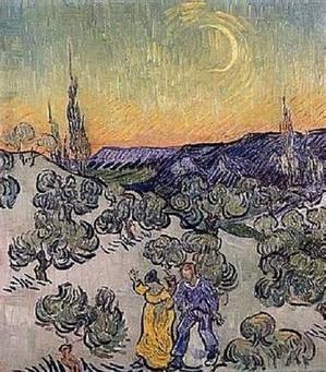 VAN GOGH - Passeggiata sotto la luna