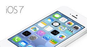 iPhoneは iOS7 からフラットデザイン