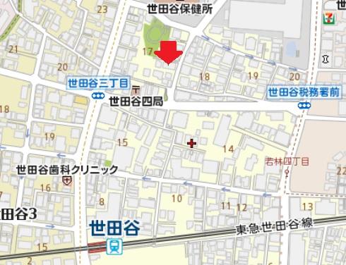 パークヒル本世田谷 地図:株式会社FROM(フロム)管理物件