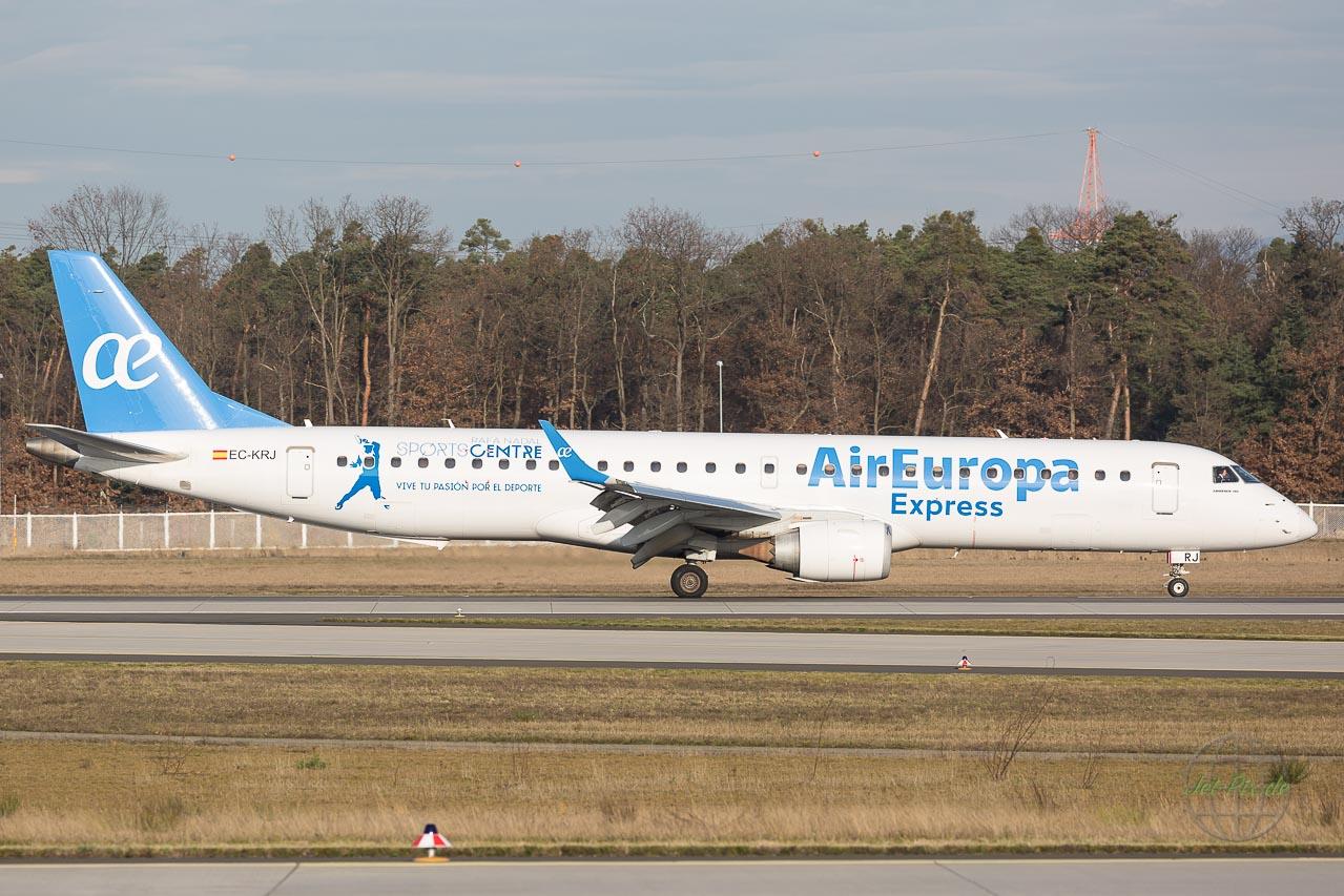 EC-KRJ Embraer auf der Nordwest in Frankfurt