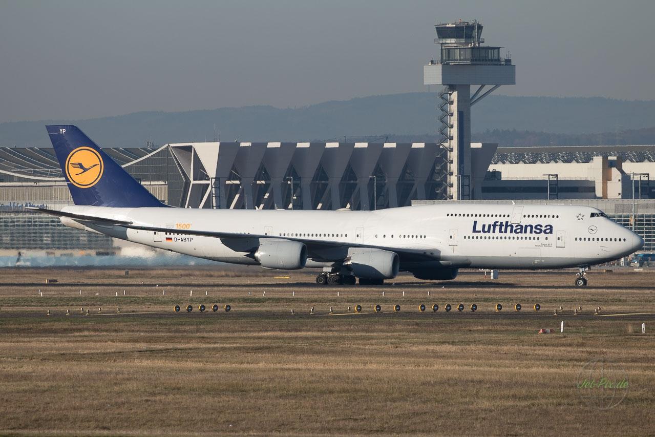 D-ABYP Lufthansa Boeing 747-830 1500. gebaute Boeing 747