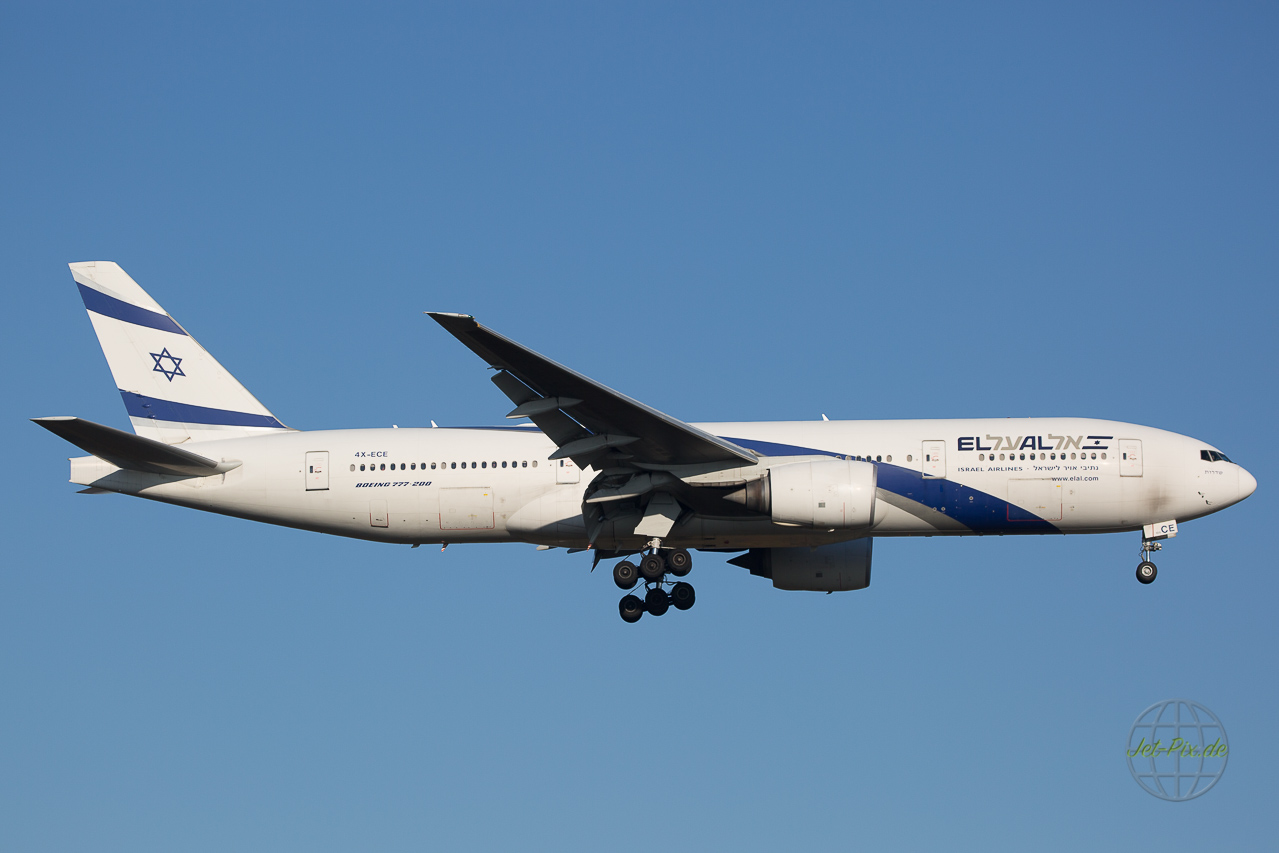 4X-ECE El Al Boeing 777 in Frankfurt am Main