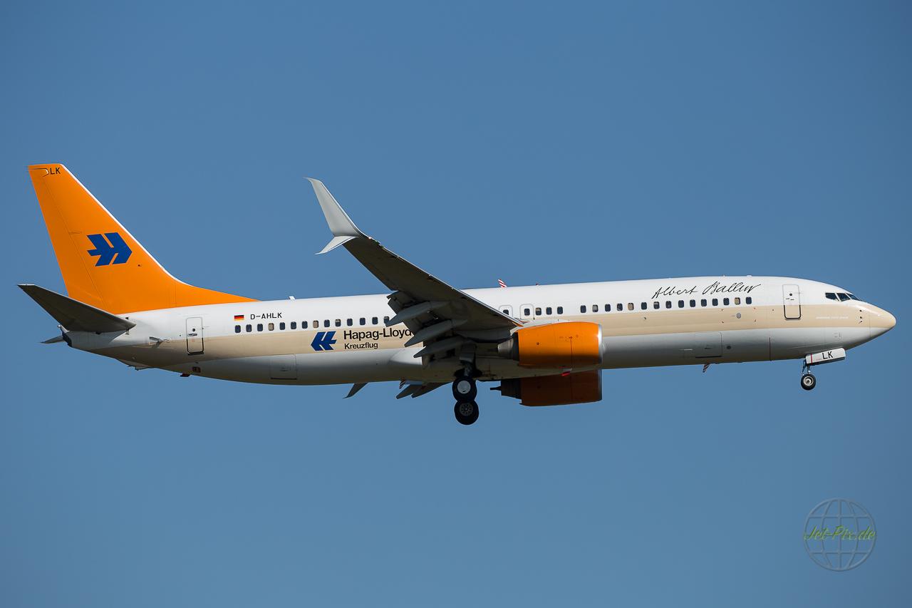 D-AHLK Tui Fly Boeing 737 Hapag Lloyd Albert Ballin