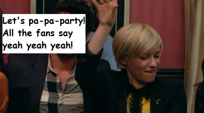 """Lasst uns feiern! Alle Fans rufen: Yeah, Yeah Yeah!"""