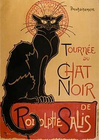 1896: Werbung für eine Tour der ersten, französischen Kabarettshow