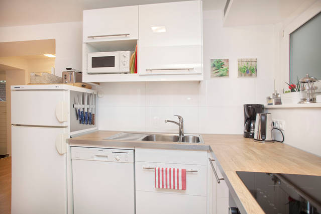 Kitchen with microwave and dishwasher