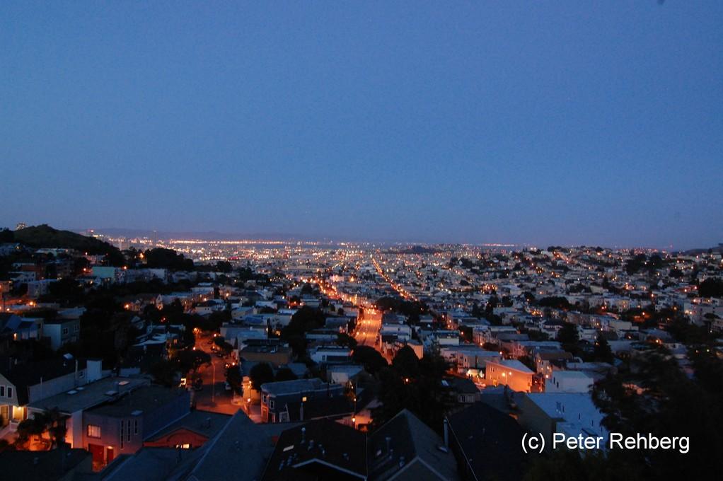 Blick vom Balkon unserer Wohnung in San Francisco