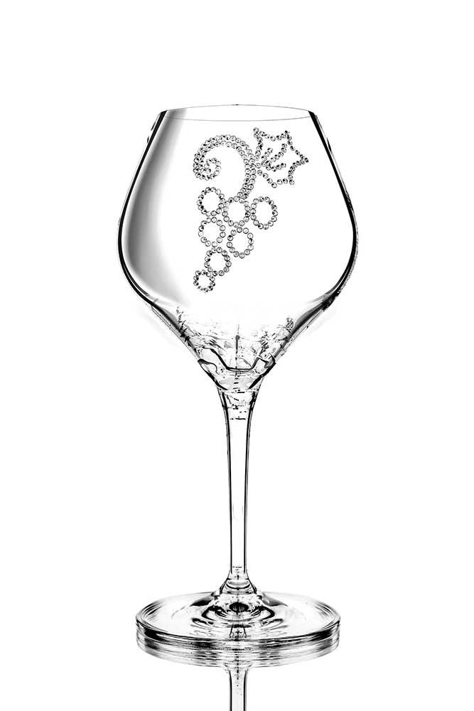 Weinglas Grapes veredelt mit Swarovski