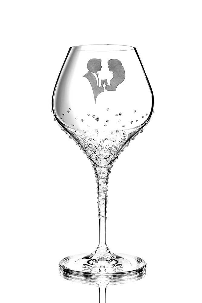 Weinglas Romance veredelt mit Swarovski