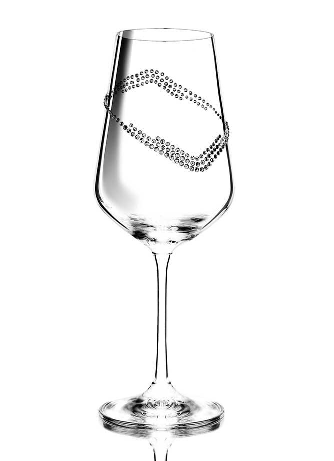 Weinglas Dionisus veredelt mit Swarovski