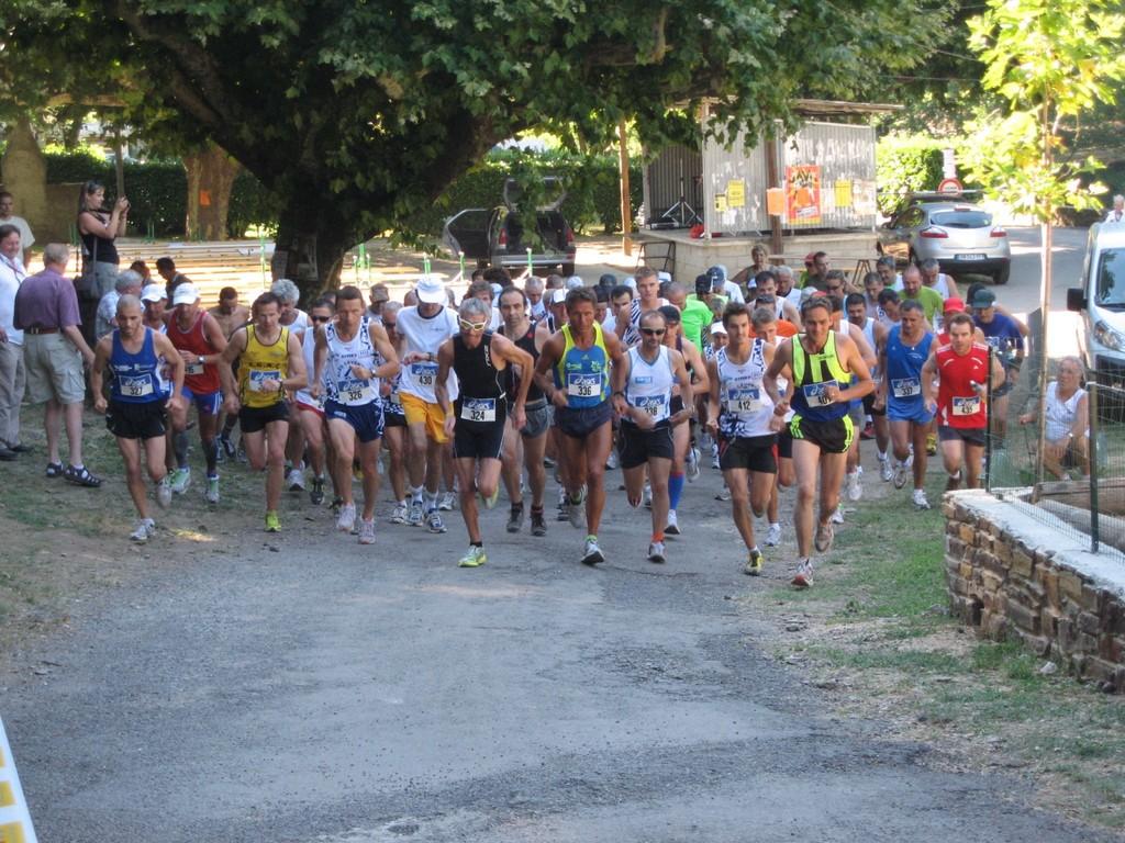 Départ de la course pédestre du 31 juillet