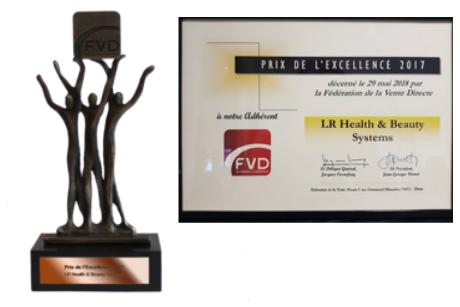 prix d'excellence 2017 décerné à LR Health & Beauty