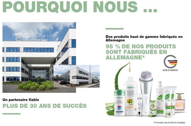 La société LR est un partenaire fiable, plus de 30 ans de succès, 95% de nos produits sont fabriqués en Allemagne