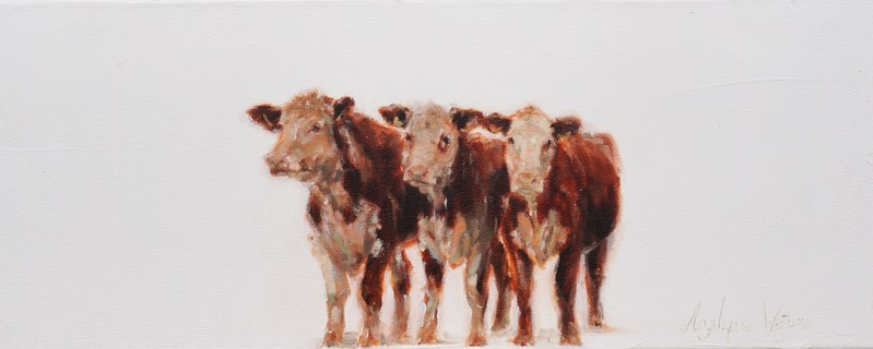 Herefords | oil on linen | 50x20cm