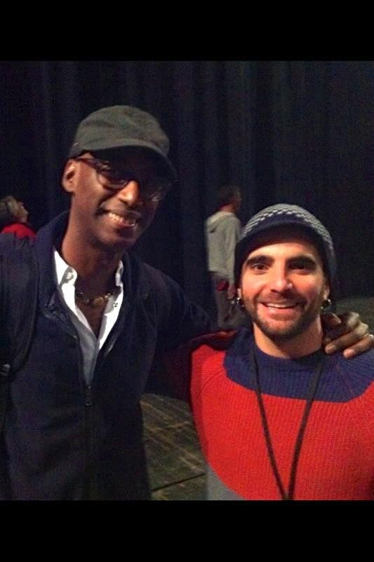 Con Omar Hakim