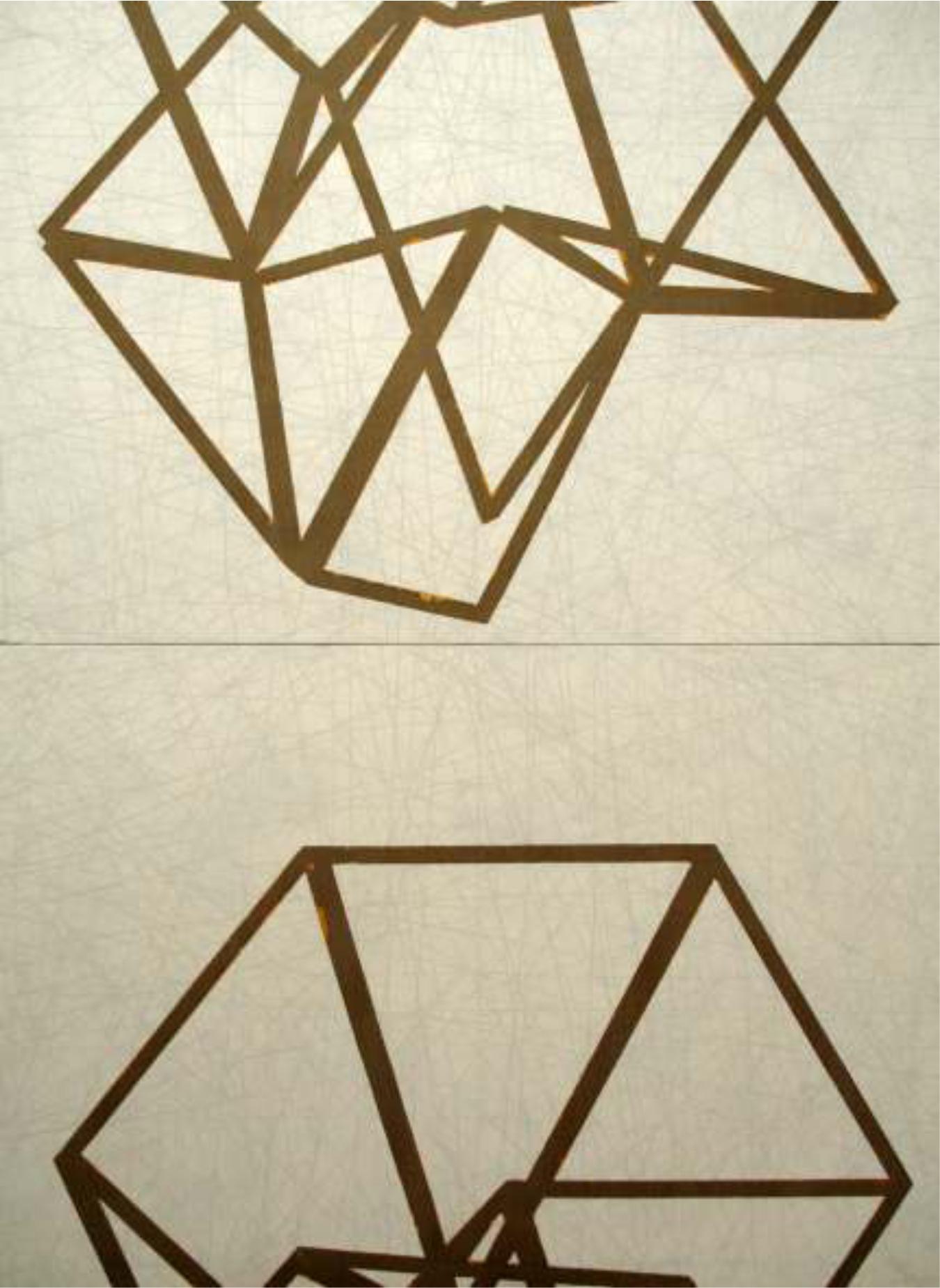 Divergencia 130 x178 cm.  Acrílico sobre tela.