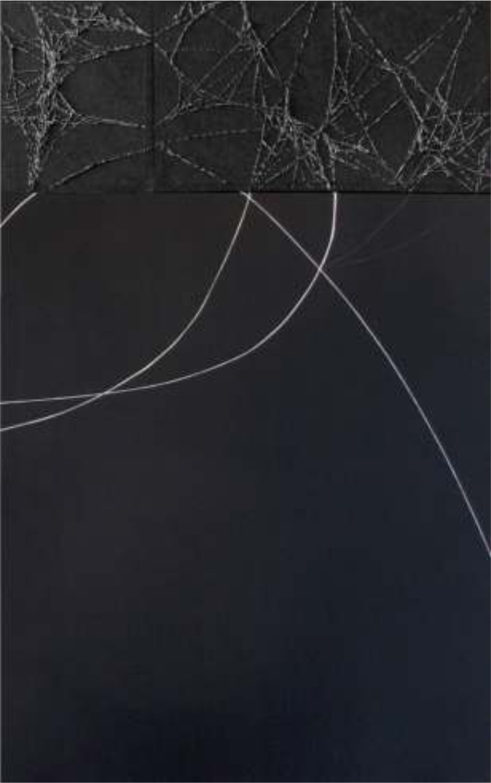 Enraizado NN, 100 x 160 cm. Técnica mixta sobre tela.