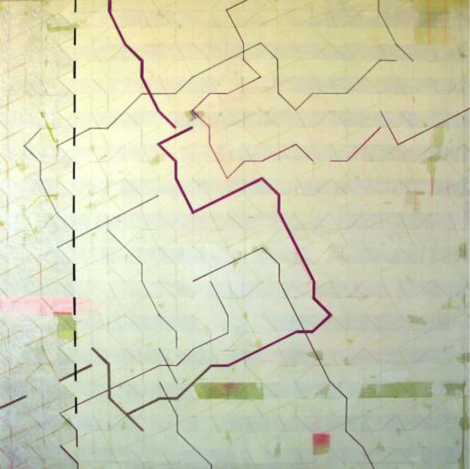 Desconfiguración 140 x 140, cm. Técnica mixta sobre tela.