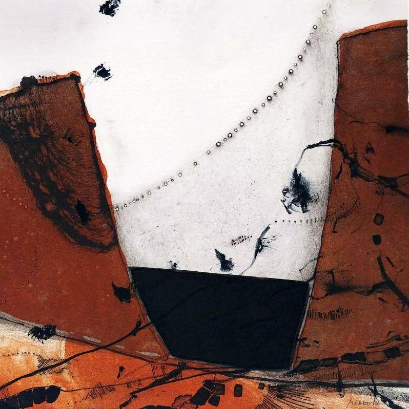 TIMAFAYA,  Litografía, 25 x 25 cm.
