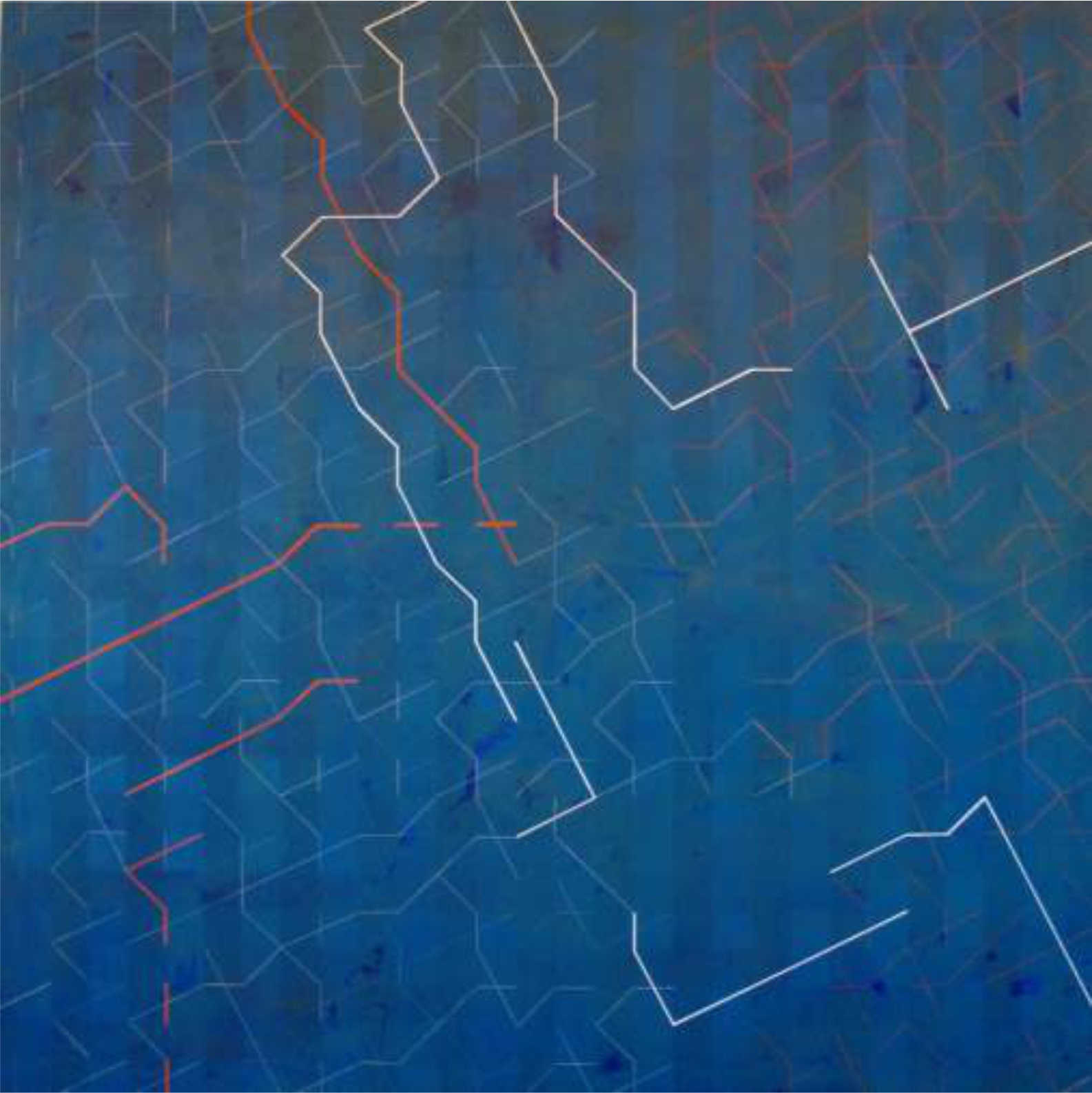 Desconfiguración B 140x140 cm. Pintura sobre tela.