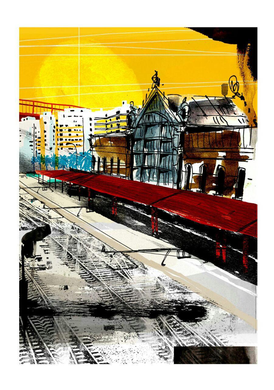 Sol  EstaciónIII. Dibujo digital.