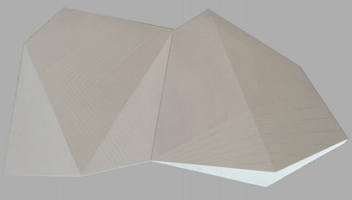 PERMUTACIÓN B1 Acrílico sobre estructura tridimensional de madera. 127 x195 x19 cm.