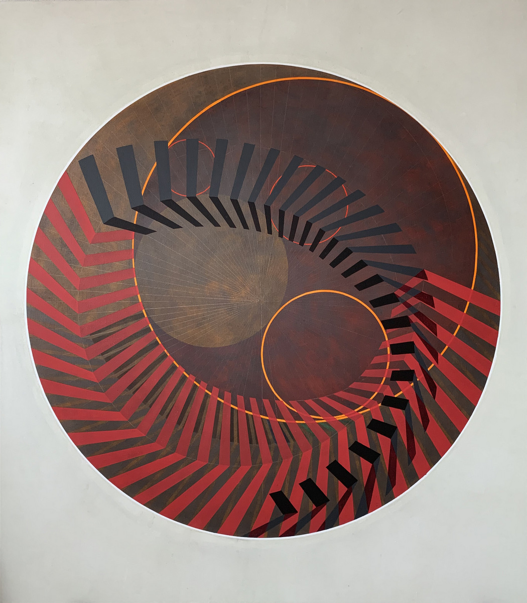 Copérnico. Acrílico y grafito sobre lino. 160 x 150