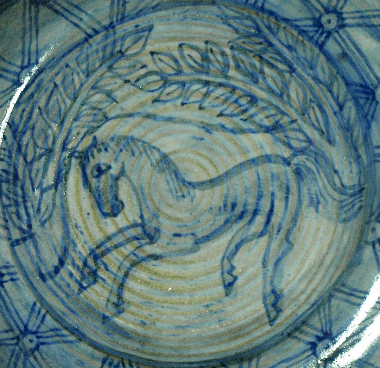 plato cerámica, 33 cms diámetro
