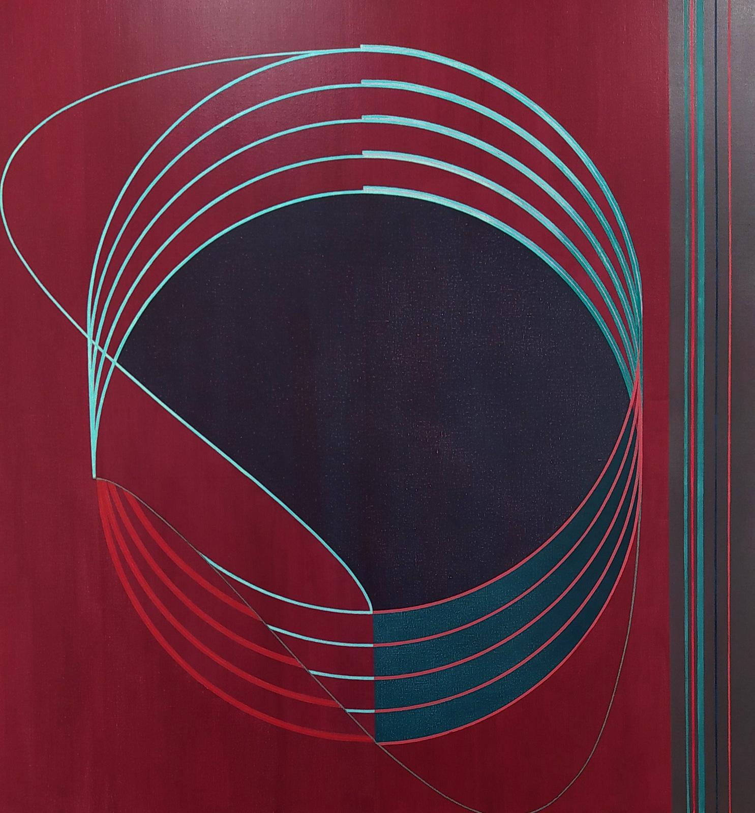 Compás. Acrílico y grafito sobre lino. 140 x 130