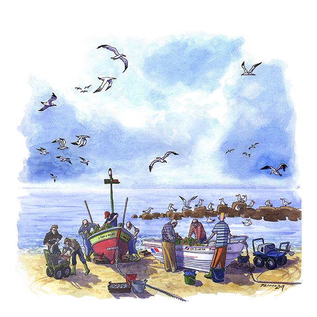 Los últimos pescadores del Zapillo.