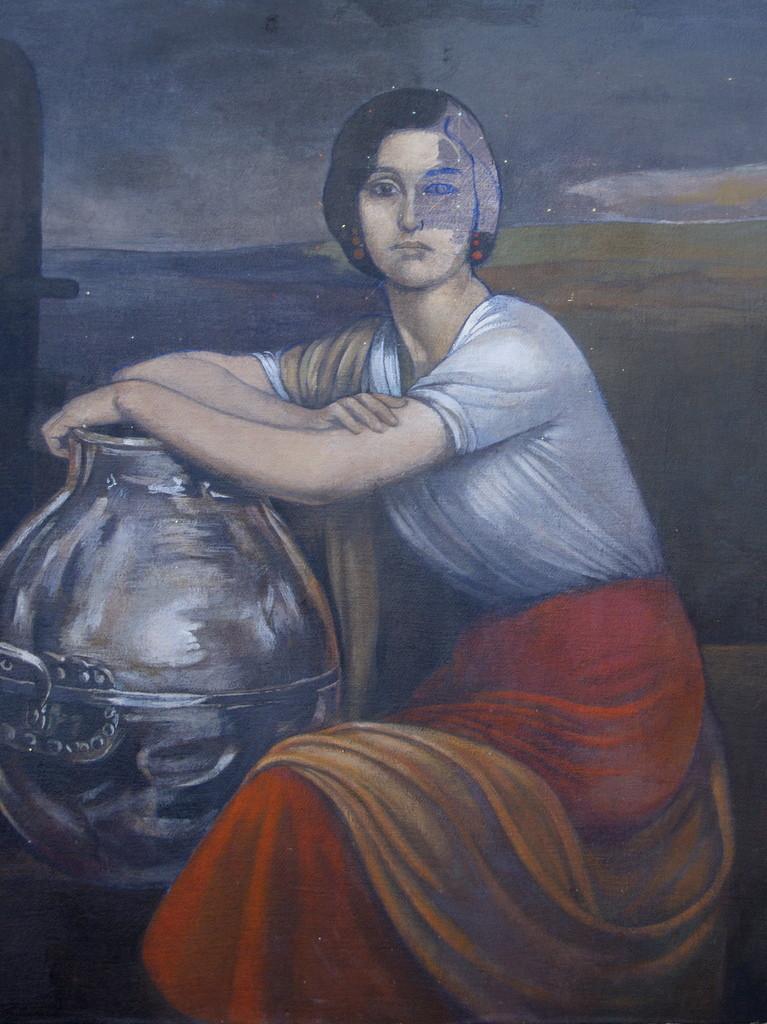 La Fuensanta, imitación Julio Romero de Torres, 50x65 cms.