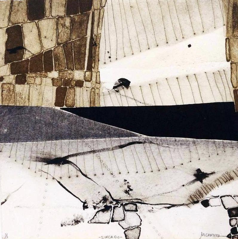 SURCADO, Litografía, 20 x 20 cm.