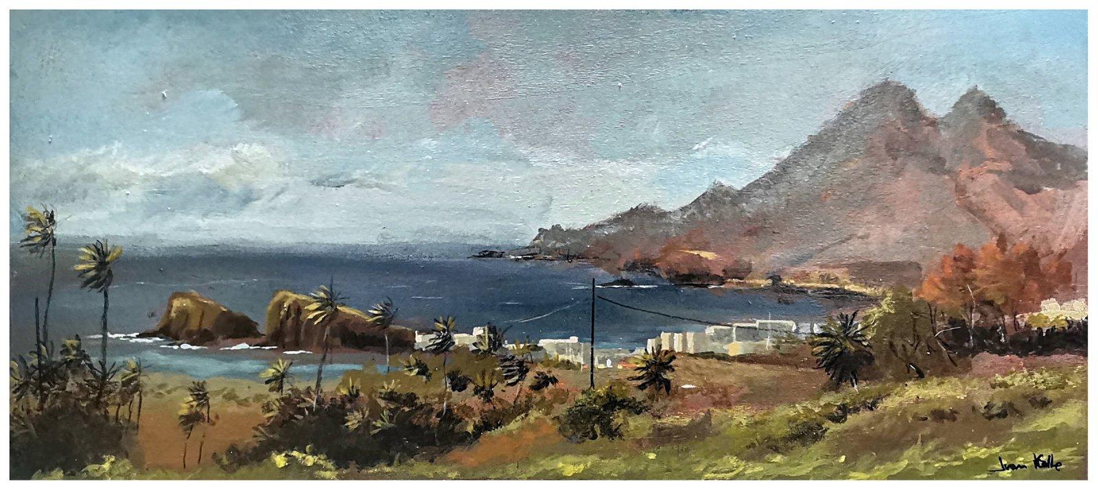 La Isleta del Moro, 60 x 25 Cm. Acrílico sobre tabla.