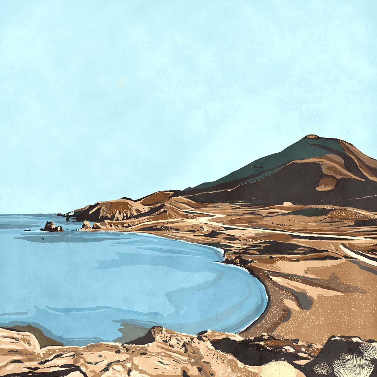 """""""Los Escullos"""",  Estampación digital, 50 x 70 cm  y  30 x 42,6 cm."""