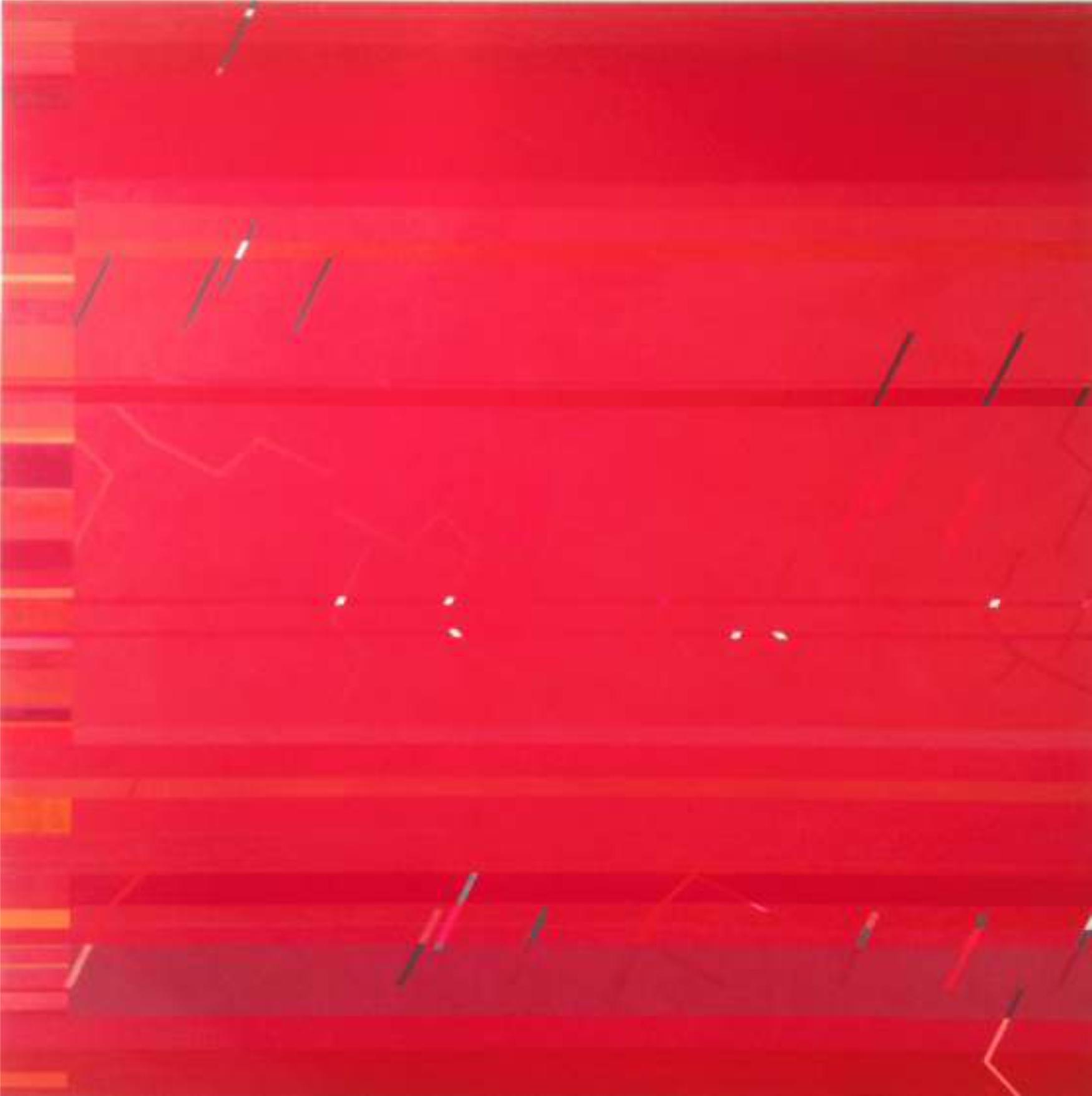 Rubedo, 150 x 150 cm. Acrílico sobre tela.