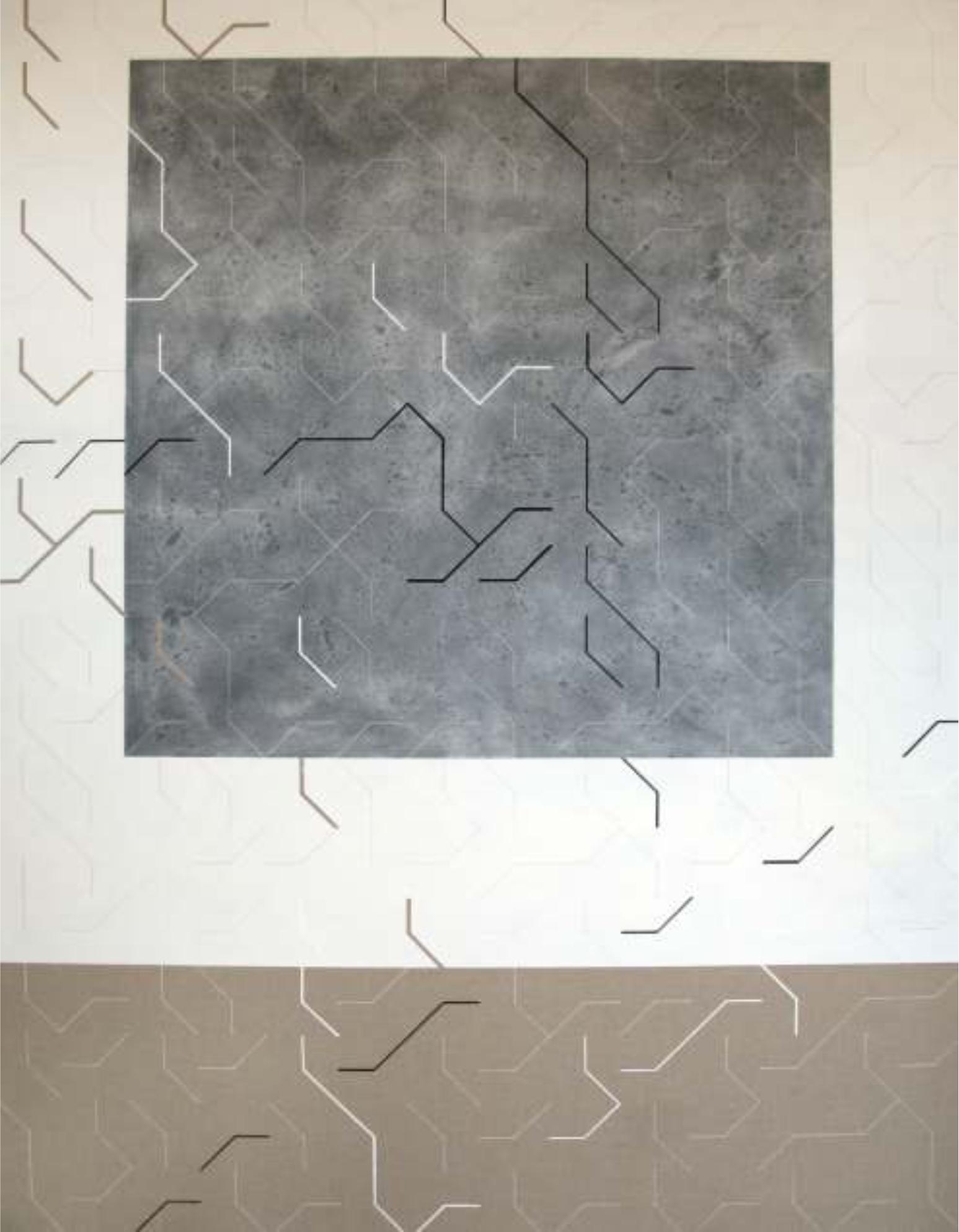 Dicción 140x180 cm. Técnica mixta sobre tela.
