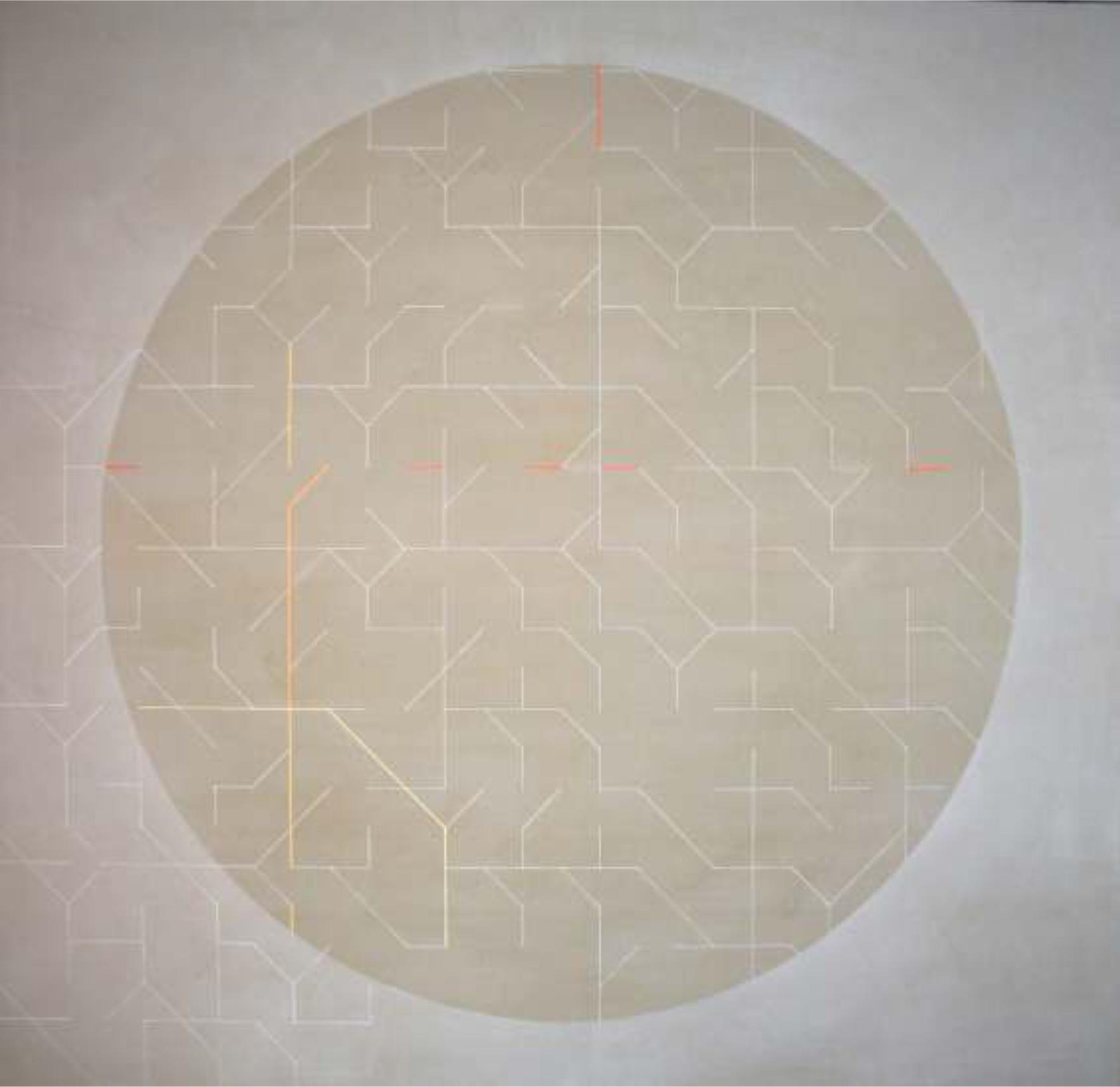 Tondo 160x150, cm. Técnica mixta sobre tela.