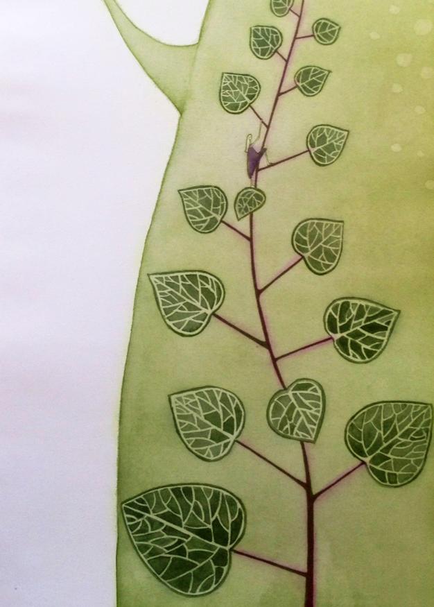 """""""trepadora"""", Técnica: Fotopolímero. Dimensiones: 22×37,5 cm. Año: 2013."""
