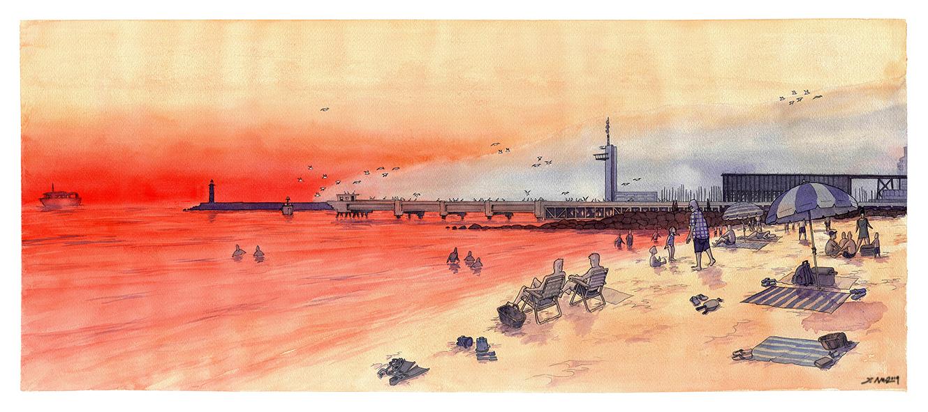 Playa de las Conchas.