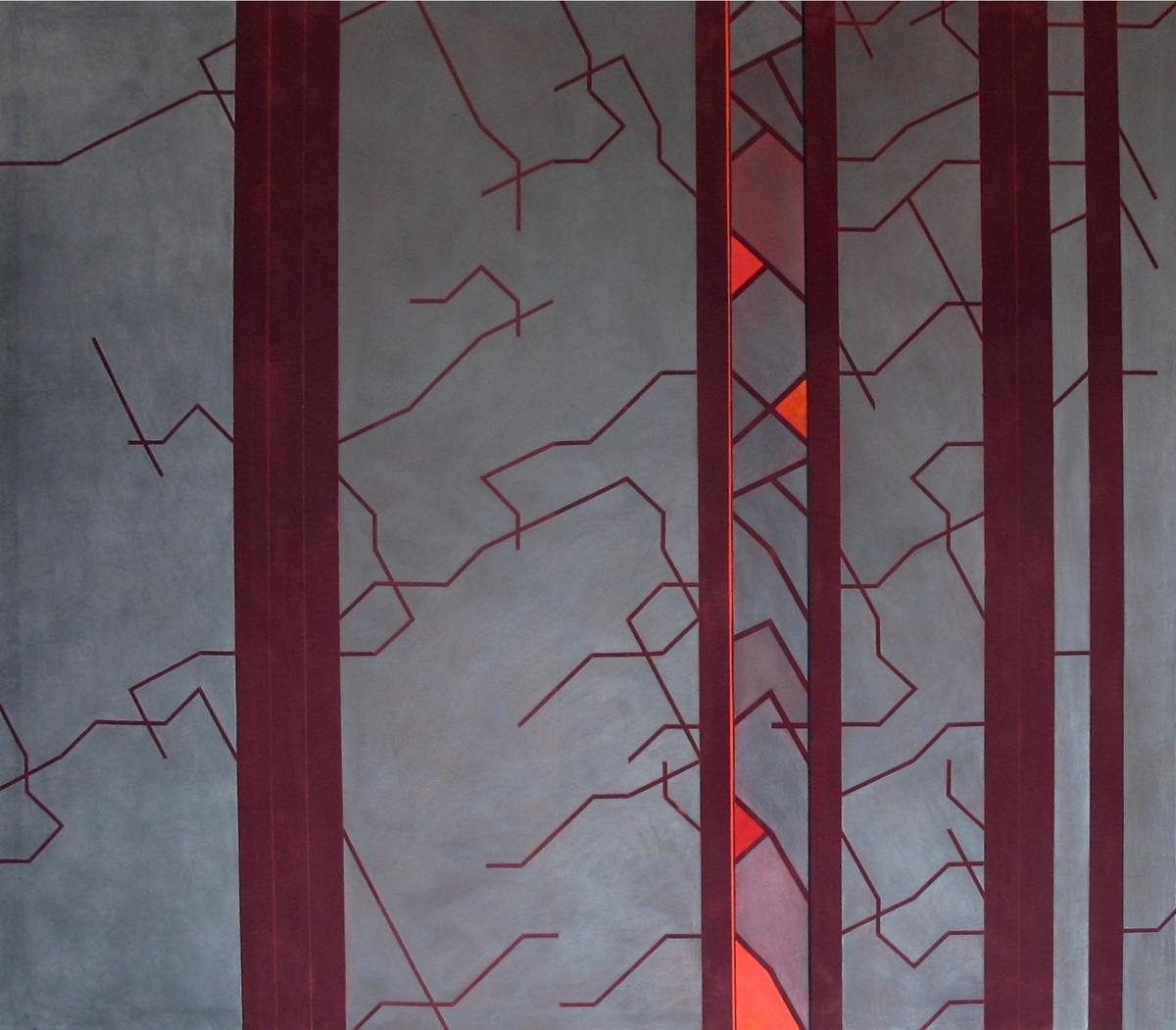 CODIFICACIÓN. Acrílico y grafito sobre lona acrílica. 170 x 150 cm.