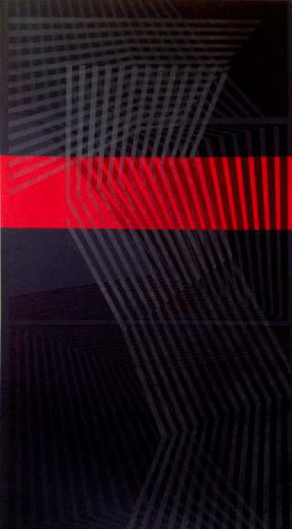 Entre sombras, 150 x 80 cm.  Acrílico sobre tela.