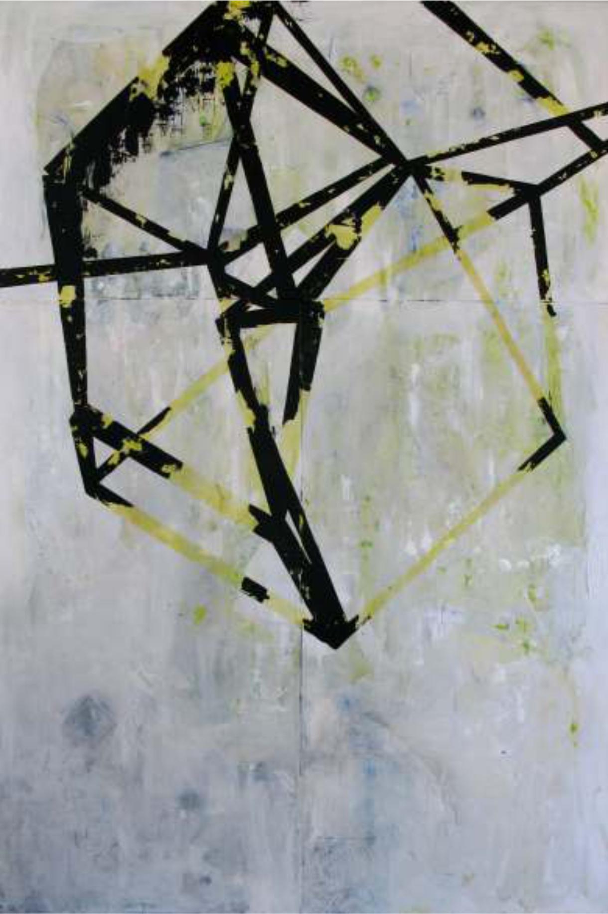 Estructura II 120x180 cm. Técnica mixta sobre tela.