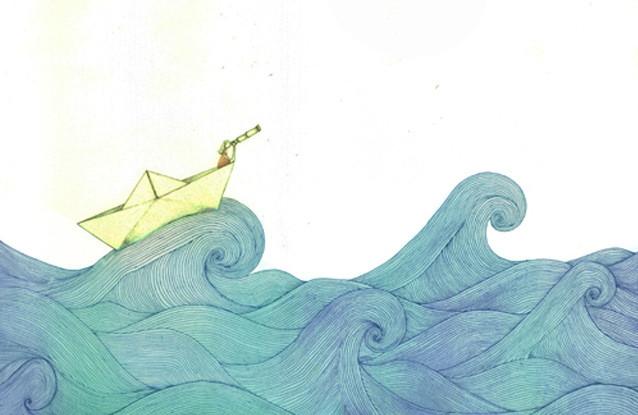 """""""Alta mar"""", Técnica: Fotopolímero. Dimensiones: 28×38 cm. Año: 2013."""