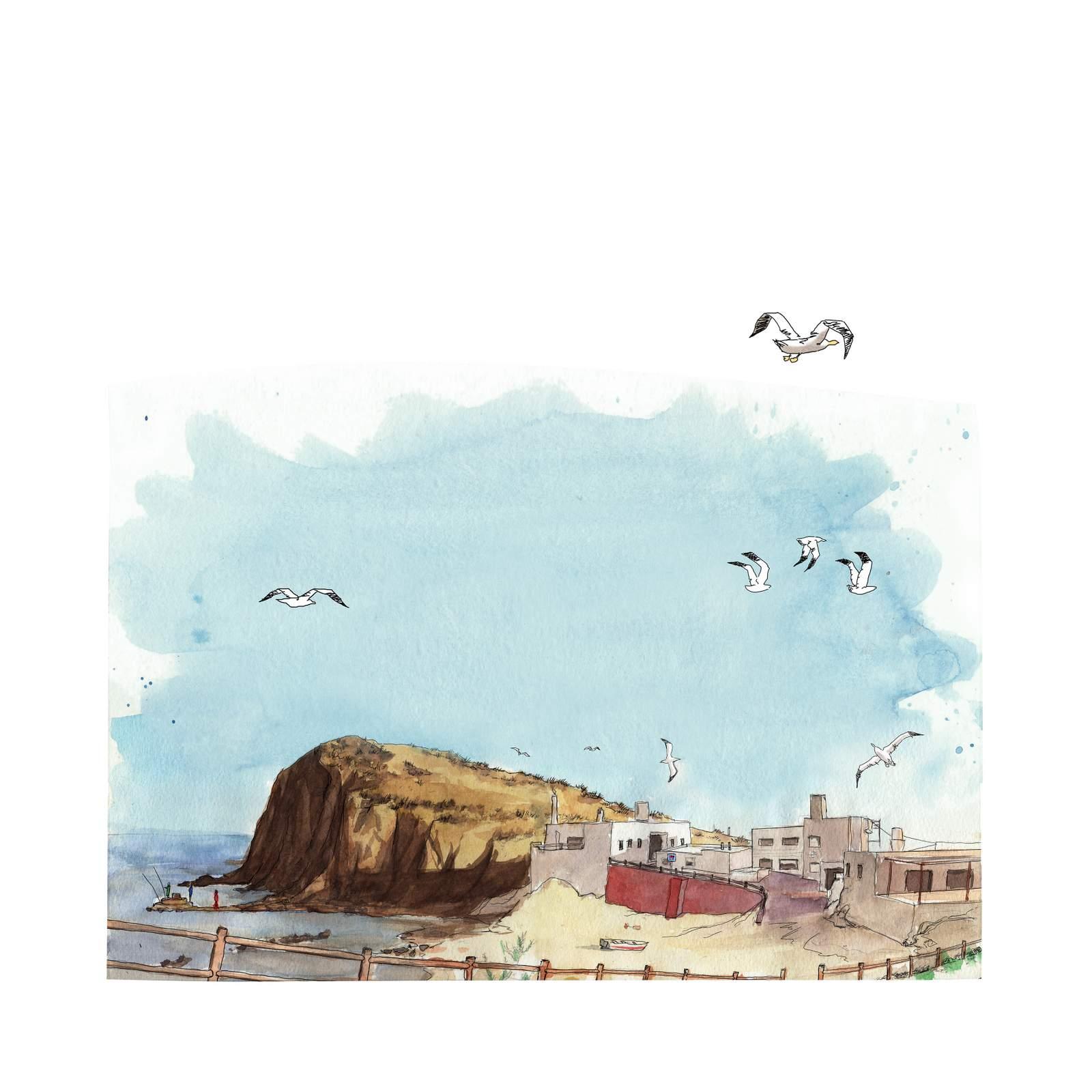 Isleta del Moro desde la ola. Agotada en la medida 50 x 50 cm.