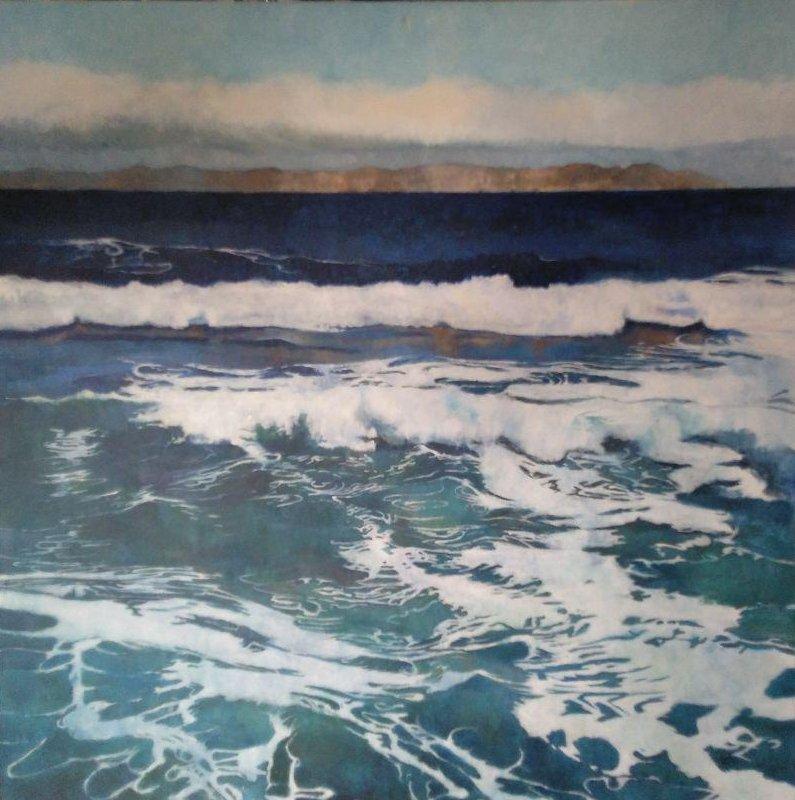 "Jordi Garriga ""El Mar"" Acrílico sobre tablal 110 x 110 cm."