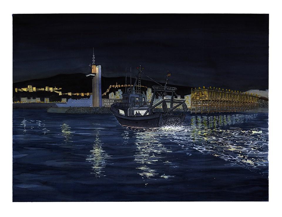 Noctucturno del puerto